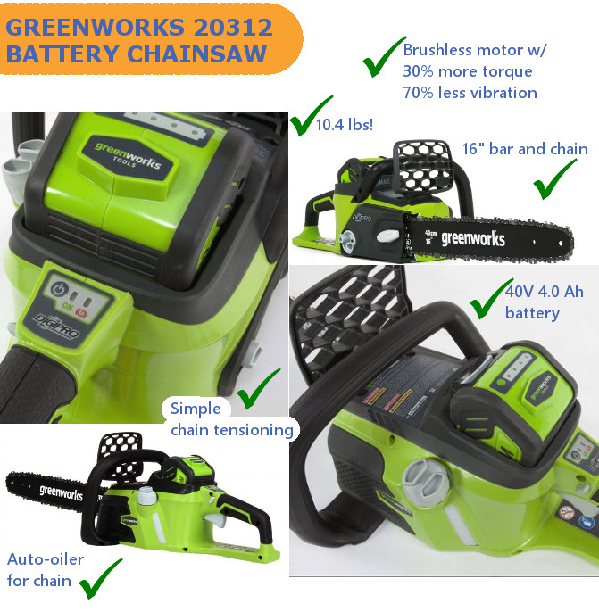 Greenworks 20312 chainsaw
