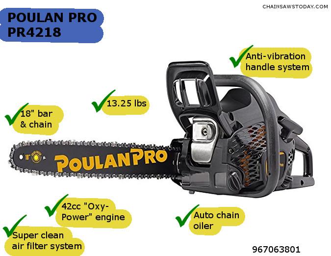 PR4218 chainsaw